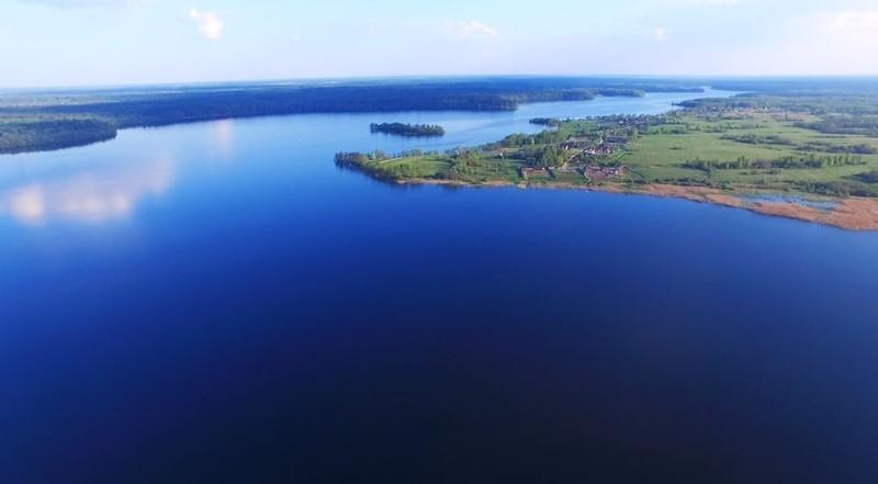 Кемпинг на озере Селява