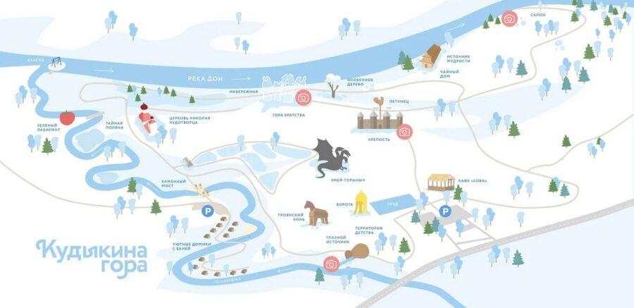 Схема парка Кудыкина гора