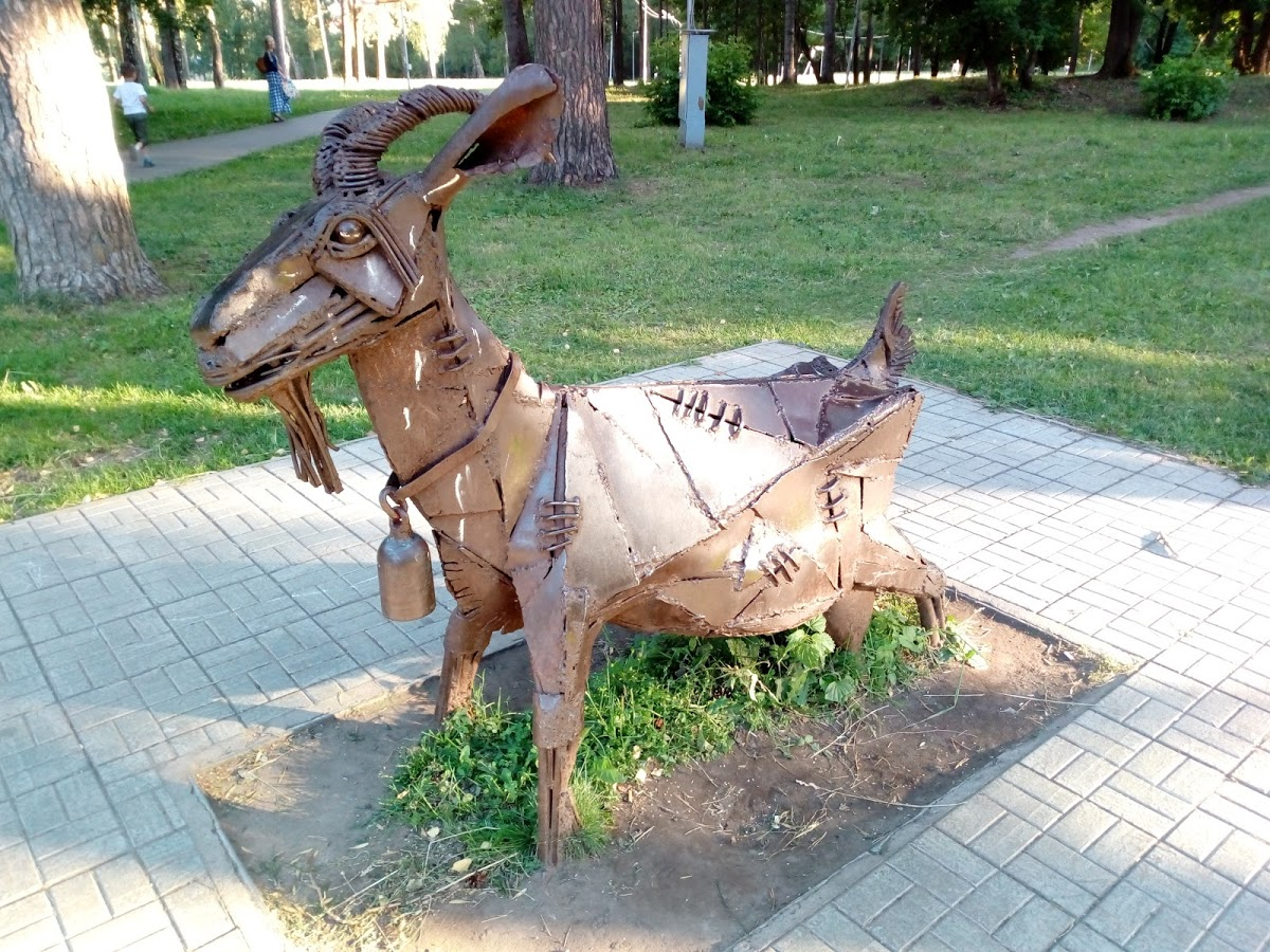 Памятник козе