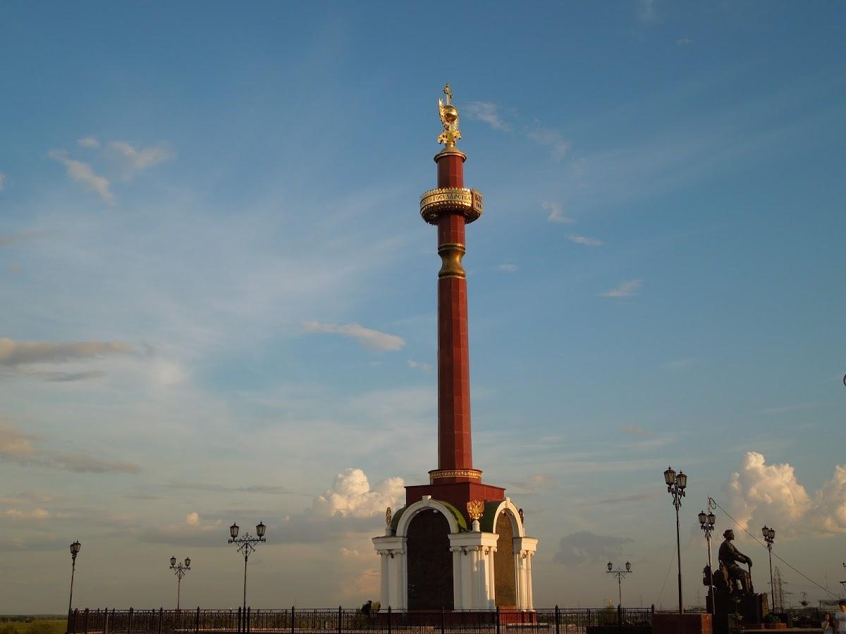 Памятник, посвященный 375-летию вхождения Якутии в состав Российского государства