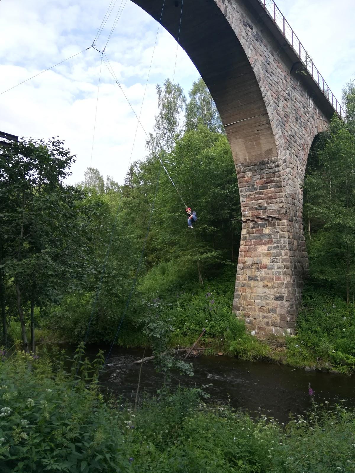 Старинный каменный ж/д мост