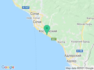 "Карта Стоянка у пляжа ""Мацеста"""