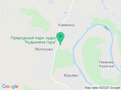 Карта Парк Кудыкина гора