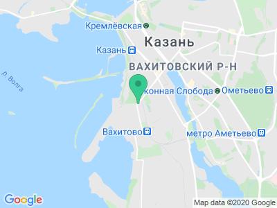 Схема проезда Фестиваль красок Холи 2016 (Казань)