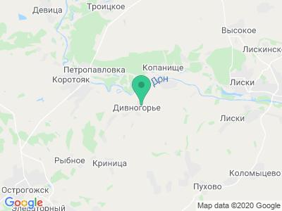 Карта Музей-заповедник Дивногорье