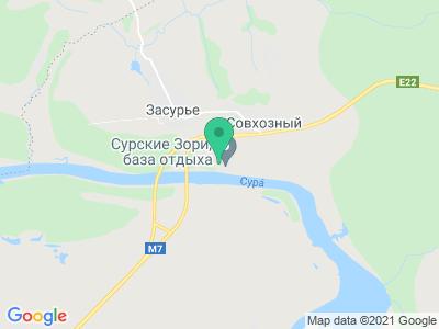 """Карта База отдыха """"Сурские Зори"""""""